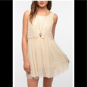 Band of Gypsie Lace & Tulle Dress Cream Small